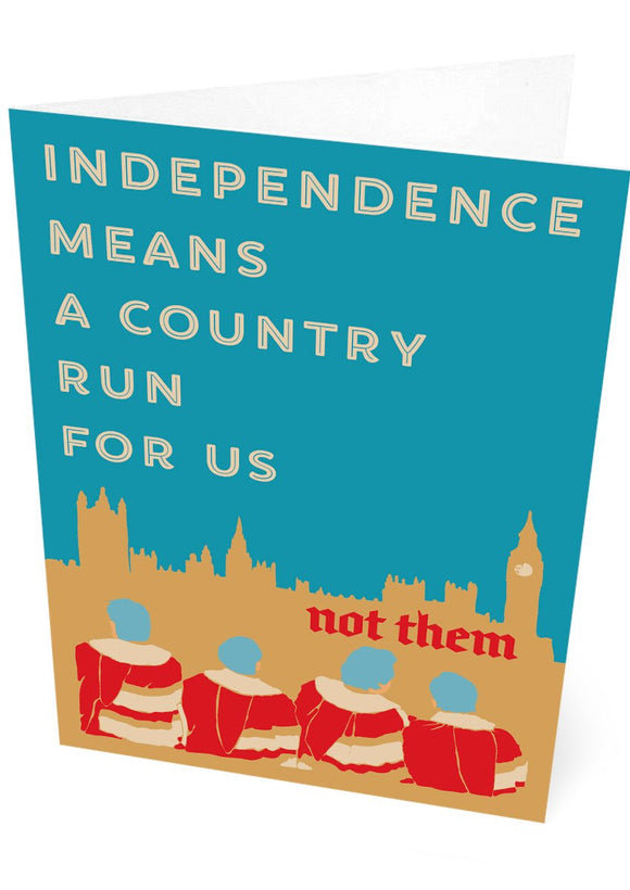 A country for us – card - Indy Prints by Stewart Bremner