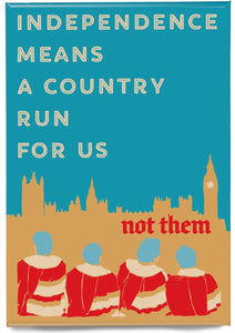 A country for us – magnet - Indy Prints by Stewart Bremner