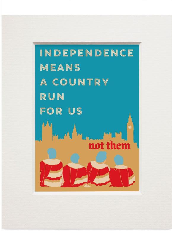 A country for us – small mounted print - Indy Prints by Stewart Bremner