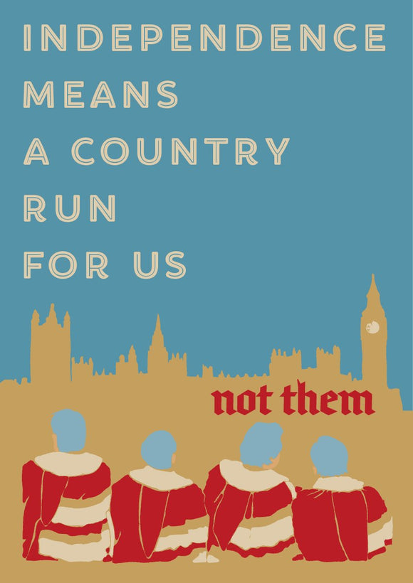 A country for us – poster - Indy Prints by Stewart Bremner