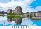 Ross-shire: Eilean Donan Castle – poster - natural - Indy Prints by Stewart Bremner
