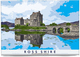 Ross-shire: Eilean Donan Castle – magnet - natural - Indy Prints by Stewart Bremner