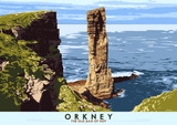 Orkney: The Old Man of Hoy – poster - natural - Indy Prints by Stewart Bremner