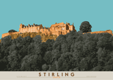Stirling: Castle – poster - turquoise - Indy Prints by Stewart Bremner