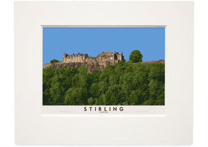 Stirling: Castle – small mounted print - Indy Prints by Stewart Bremner