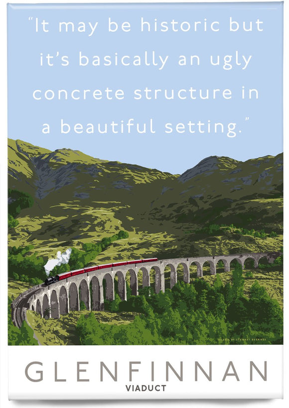 The Glenfinnan Viaduct is ugly – magnet