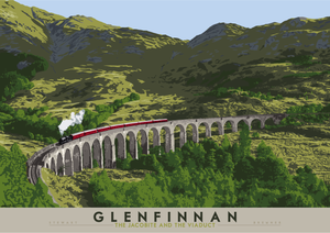 Glenfinnan: The Jacobite and The Viaduct – giclée print