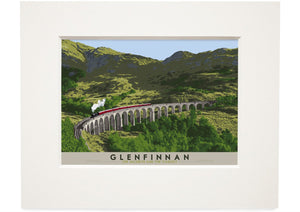 Glenfinnan: The Jacobite and The Viaduct – small mounted print