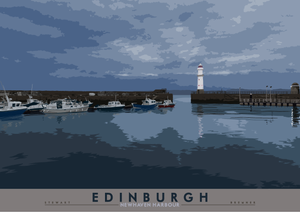 Edinburgh: Newhaven Harbour - Indy Prints by Stewart Bremner