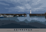 Edinburgh: Newhaven Harbour – poster - natural - Indy Prints by Stewart Bremner
