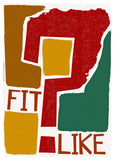 Fit like? – poster - red - Indy Prints by Stewart Bremner