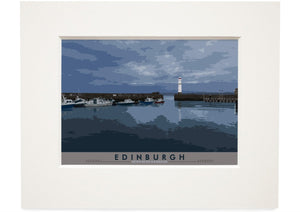 Edinburgh: Newhaven Harbour – small mounted print - Indy Prints by Stewart Bremner
