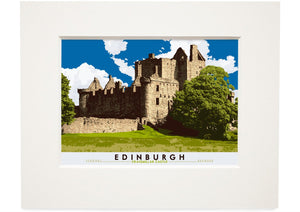 Edinburgh: Craigmillar Castle – small mounted print
