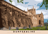 Dunfermline: Abbey – poster - natural - Indy Prints by Stewart Bremner