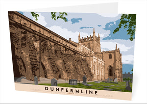 Dunfermline: Abbey – card - Indy Prints by Stewart Bremner