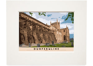 Dunfermline: Abbey – small mounted print - Indy Prints by Stewart Bremner