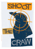 Shoot the craw – poster - blue - Indy Prints by Stewart Bremner