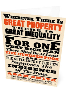 Great property and great inequality – card - Indy Prints by Stewart Bremner