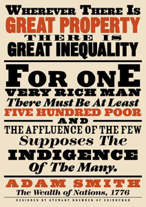 Great property and great inequality – poster - Indy Prints by Stewart Bremner