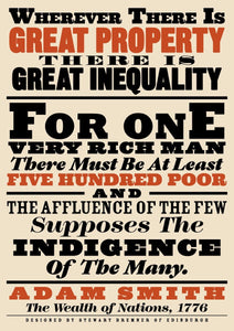Great property and great inequality – giclée print - Indy Prints by Stewart Bremner