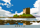 Argyll: Castle Stalker – poster - natural - Indy Prints by Stewart Bremner
