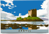 Argyll: Castle Stalker – magnet - natural - Indy Prints by Stewart Bremner