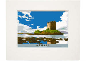 Argyll: Castle Stalker – small mounted print - Indy Prints by Stewart Bremner