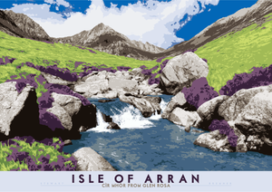 Isle of Arran: Cìr Mhòr from Glen Rosa – poster