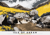 Isle of Arran: Cìr Mhòr from Glen Rosa – poster - yellow - Indy Prints by Stewart Bremner