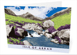 Isle of Arran: Cìr Mhòr from Glen Rosa – card - natural - Indy Prints by Stewart Bremner