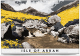 Isle of Arran: Cìr Mhòr from Glen Rosa – magnet - yellow - Indy Prints by Stewart Bremner