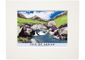 Isle of Arran: Cìr Mhòr from Glen Rosa – small mounted print - Indy Prints by Stewart Bremner