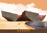 Dundee: V&A – poster - orange - Indy Prints by Stewart Bremner