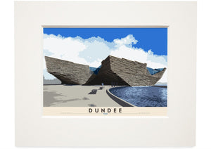Dundee: V&A – small mounted print - Indy Prints by Stewart Bremner