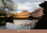 Assynt: Stac Pollaidh – poster - natural - Indy Prints by Stewart Bremner