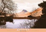 Assynt: Stac Pollaidh – poster - orange - Indy Prints by Stewart Bremner