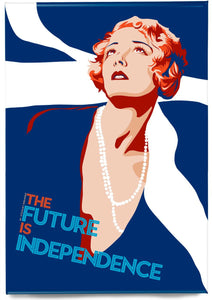 The future is independence – magnet - Indy Prints by Stewart Bremner