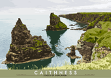 Caithness: Stacks of Duncansby – giclée print - natural - Indy Prints by Stewart Bremner