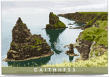 Caithness: Stacks of Duncansby – magnet - natural - Indy Prints by Stewart Bremner