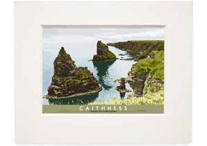 Caithness: Stacks of Duncansby – small mounted print - Indy Prints by Stewart Bremner
