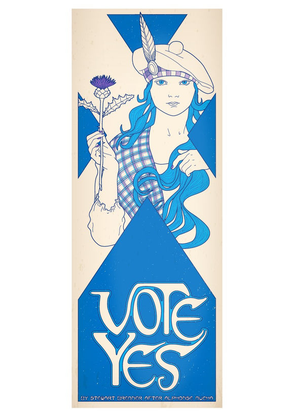 Vote Yes – poster - Indy Prints by Stewart Bremner
