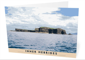 Inner Hebrides: Isle of Staffa – card - Indy Prints by Stewart Bremner