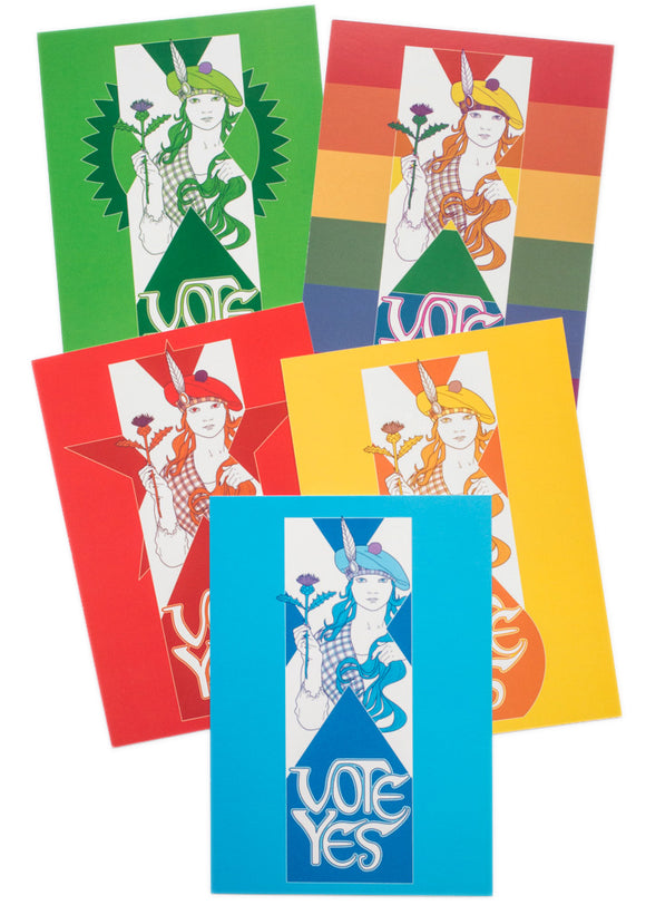Vote Yes postcard set - Indy Prints by Stewart Bremner
