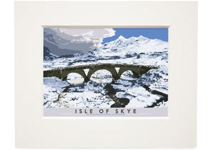 Isle of Skye: Black Cuillin from Sligachan – small mounted print