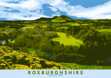 Roxburghshire: Scott's View – poster - natural - Indy Prints by Stewart Bremner