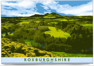 Roxburghshire: Scott's View – magnet - Indy Prints by Stewart Bremner