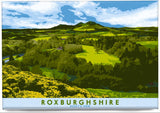 Roxburghshire: Scott's View – magnet - natural - Indy Prints by Stewart Bremner