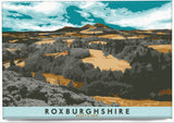 Roxburghshire: Scott's View – magnet - orange - Indy Prints by Stewart Bremner