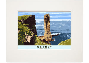 Orkney: The Old Man of Hoy – small mounted print