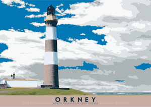 Orkney: North Ronaldsay Lighthouse – poster
